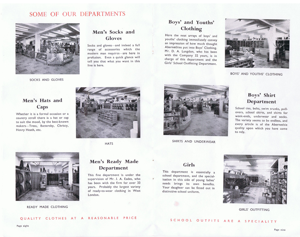 Abernethie & Son 75th anniversary brochure